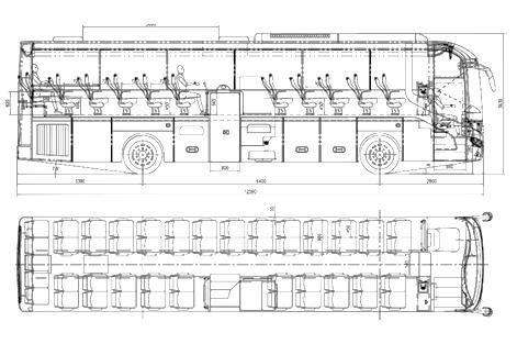 Схема автобуса VOLVO Compass
